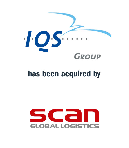 Tombstone of M&A transaction: IQS Group has been acquired by Scan Global Logistics