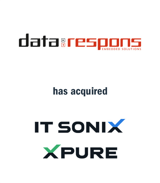 Tombstone of M&A transaction: Data Respons has acquired IT Sonix and XPURE